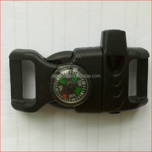 adjustable side release buckle with compass and whistle