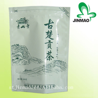 Custom logo plastic bag stand up pouch with zipper tea packaging