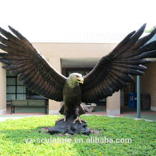 outdoor large size bronze eagle statues for sale