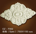 wall accessory PU Ceiling medallion /Carving Lamp holder ceiling decoration for salon