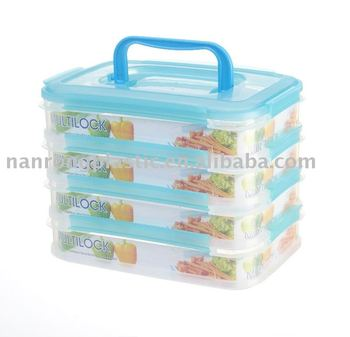 1.1L STACKABLE FOOD CONTAINER WITH CLIPS