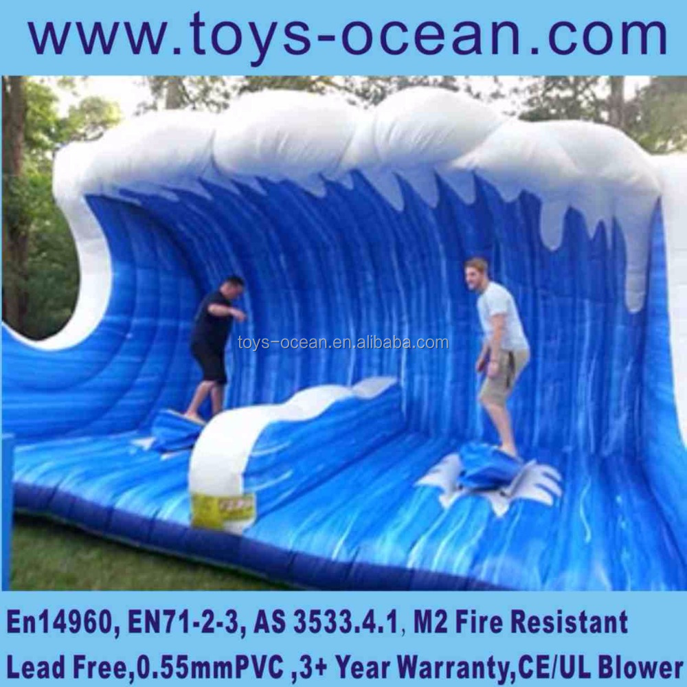 Double man inflatable mechanical surfboard