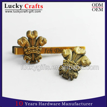 Wholesale cheap custom design your logo cufflink metal cufflink and tie pin set