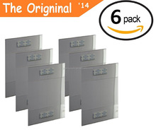 The Original 6 Pack of Wall Mount 8.5 X 11 or 11 X 8.5 Clear Acrylic Sign Holders with ADHESIVE, No Drilling