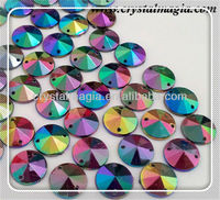 colour ab rivoli sewing glass stone for clothes decoration