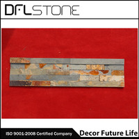 Yellow or rusty cheap stone veneer cultured stone prices Rusty exterior wall cladding slate Tiles