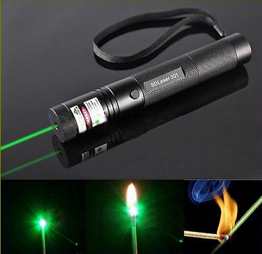 G301 Focus Burn 532nm Green Laser Pointer Pen Lazer Beam Military Green Lasers
