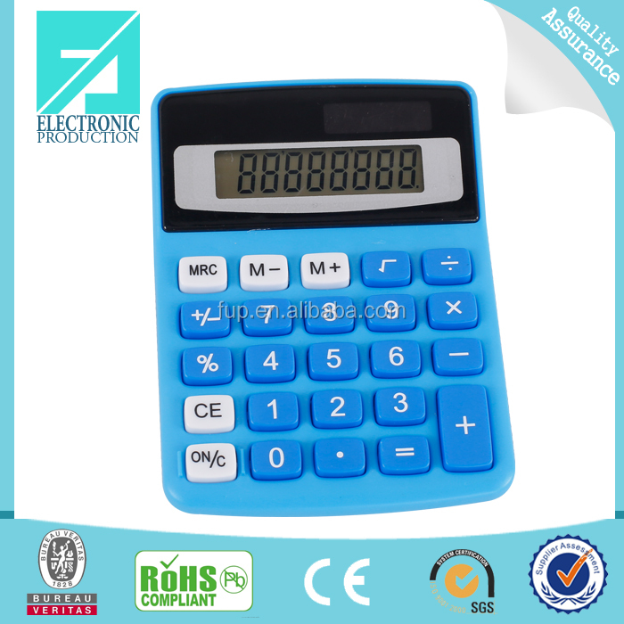 Fupu hot sell 8 digit desk solar energy stair calculator