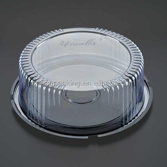 PET Plastic round cake box dome for packing cake food dessert pastry tray