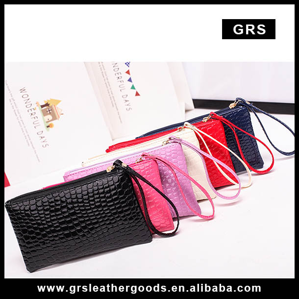 Promotional Gift wallet Purse/Crocodile Lady fashion wallet Bag Coin pocket Purse with strap RFID Women wallets