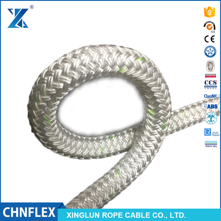 colorful double layer braid low melting point polyamide nylon rope