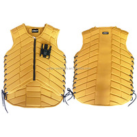 Body protection vest for horse riding sports