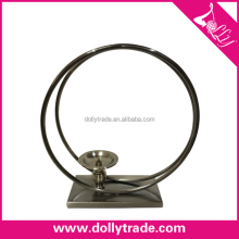 Table Stand Tall Circle Shape Metal Candle Holder Stick