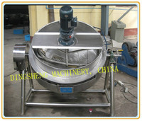 Gas fired jacket pot// gas-fired jacket pot with agitator scrape//tilted gas-fired jacket pot