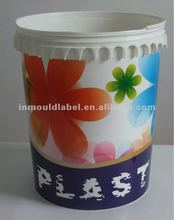 Plastic paint bucket IML label / injection molding label