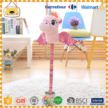 promotional custom stuffed plush happy horse shape animal toys