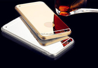 Hot sell electraplate cell phone case with mirror ,for iphone 6 mirror cover case