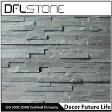 natural outside black stone wall tiles design
