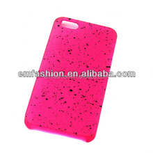 Cheap Customized Sprayed Dots Hard Plastic Mobile Phone Case