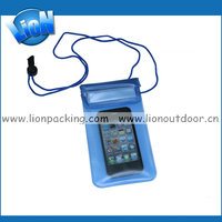High quality pvc mobile phone necklace cellphone waterproof bag/case/pouch