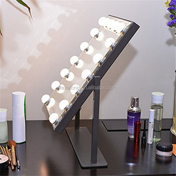 magnifying light LED Mirror brand led Makeup Mirror With Light Bulbs