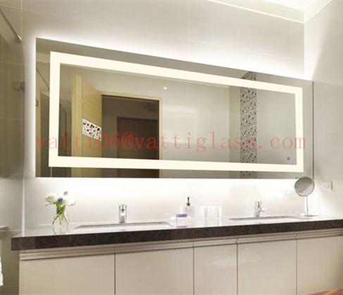 Top Quality Illuminated Ip44 Waterproof Led Bathroom Mirror Attached Light  Led Mirror Light