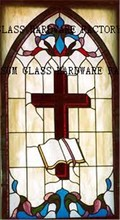 High technique vitray stained glass church wall windows panel decorative
