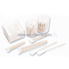 Daily use cosmetic clean Cotton Bub with bamboo, wooden, plastic stick, HPK-MEDC26-00016W