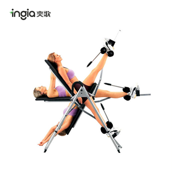 Indoor Adjustable Fitness Equipment Long Handle Inversion Table