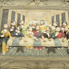 Wall Hanging Art Tapestry resin Religious Last Supper
