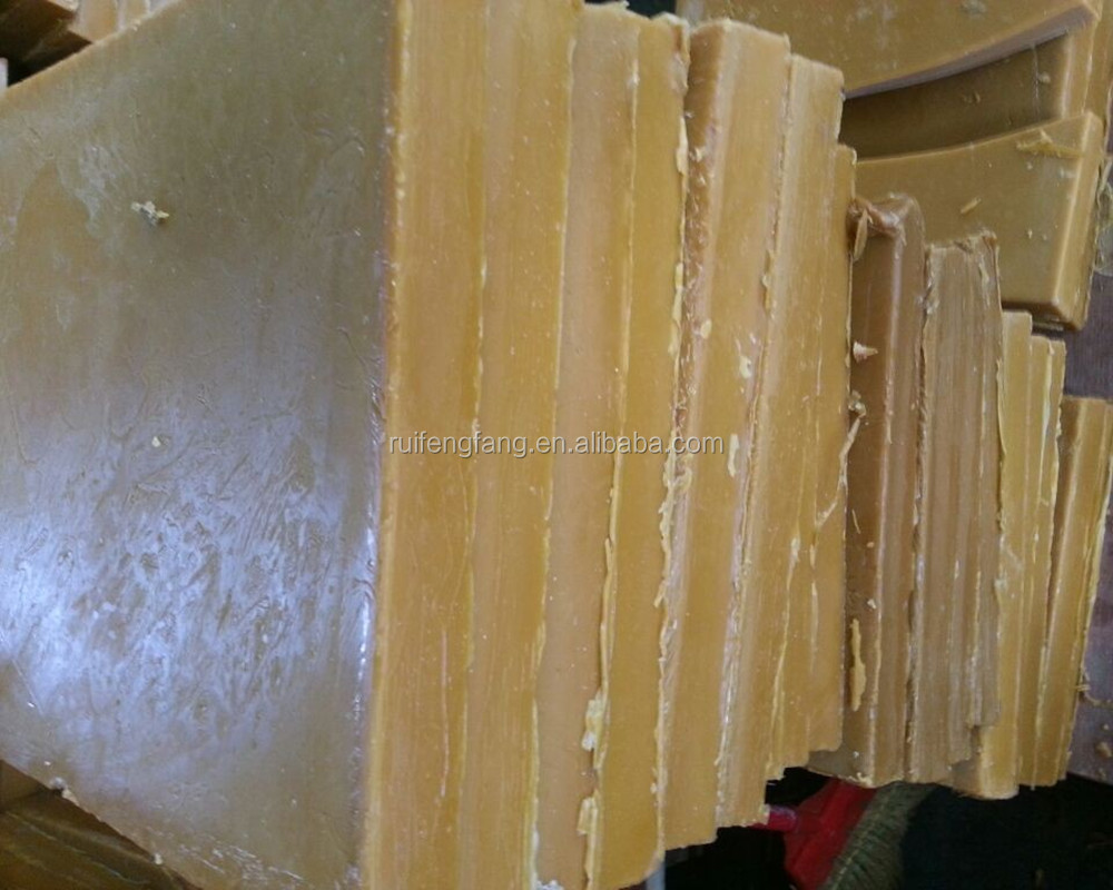 Pure and natural bee wax brick from china bee wax suppliers