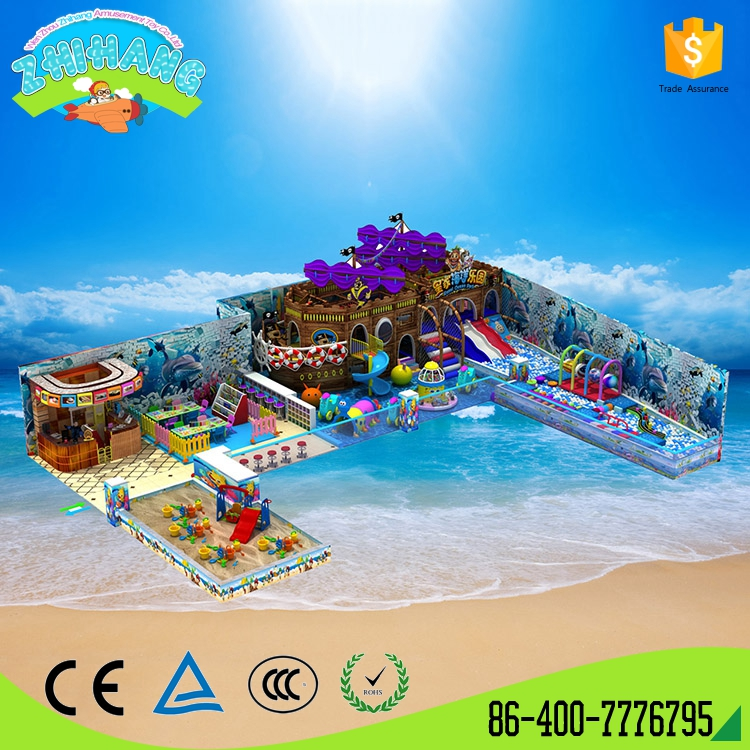 Top quality pirate ship style kids indoor playground equipment for sale