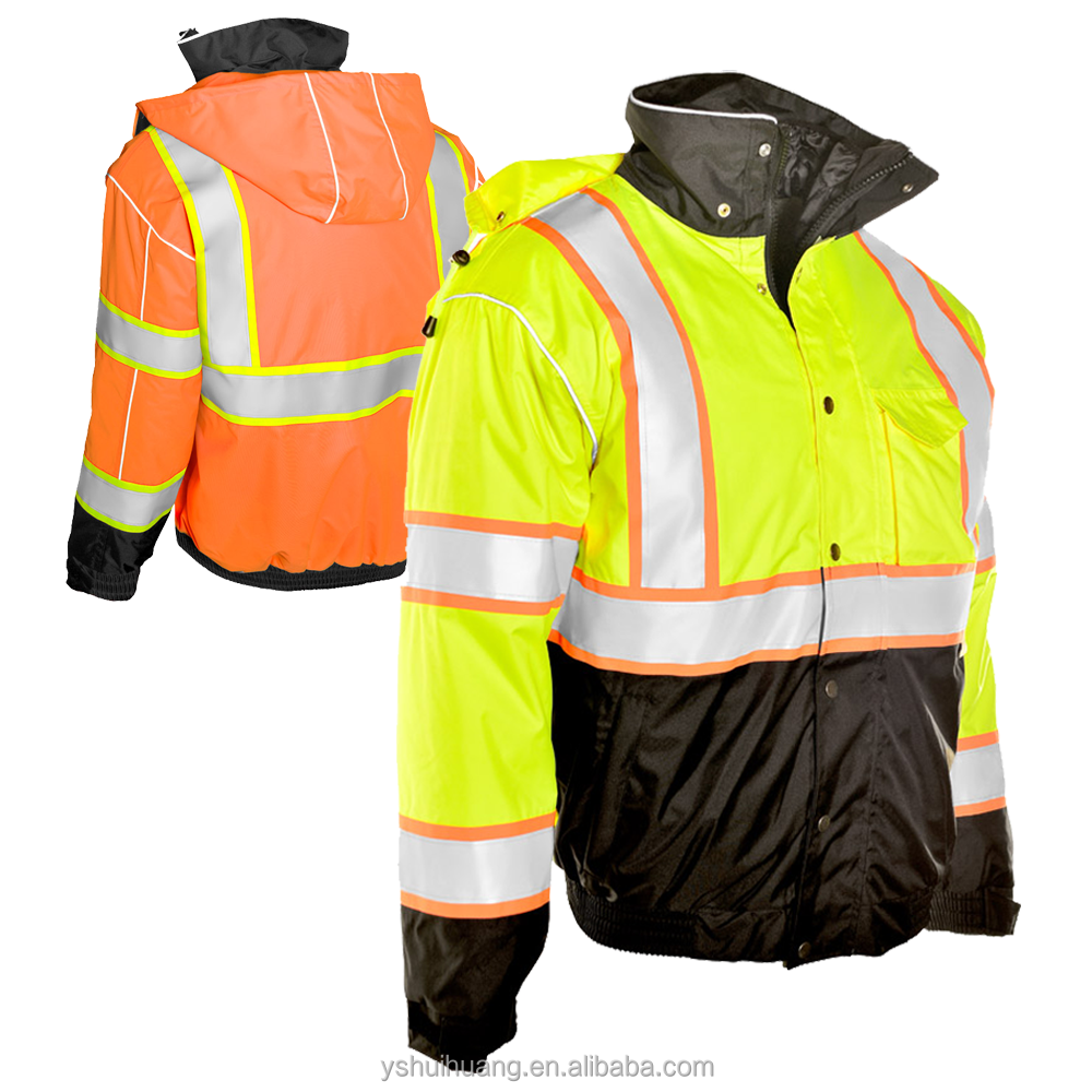 BQB-WN2017016 winter hi vis jacket, factory directly, quality, test and delivery time guaranteed, OEM & ODM supported!