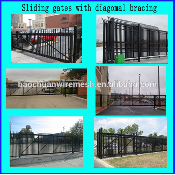 single wrought iron gate / simple wrought iron gate / iron gate designs
