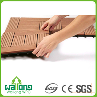 Promotional outdoor diy wpc wood plastic coated wood