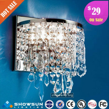 Crystal wall lighting on sale