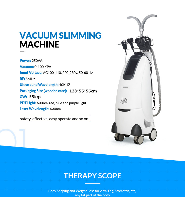 Pure white vertical powerful body slimming machine