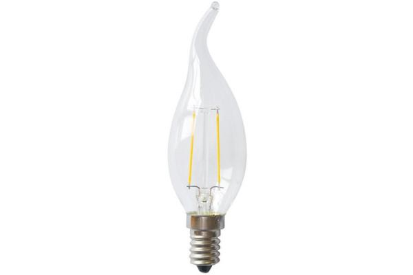 Factory in zhenjiang china high quality candle flame tip led filament light bulb 1w