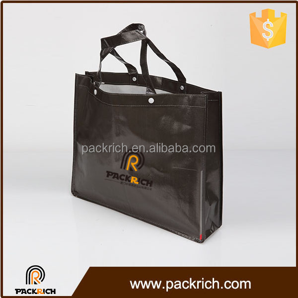 Cheap foldable convenient eco pp nonwoven matt laminated bag