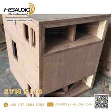 STM S118 bass speaker empty cabinet box used high performance 18 inch sub driver by china guangzhou design