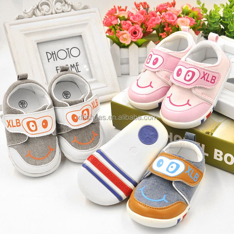 wholesale baby shoes rubber sole soft canvas baby shoe