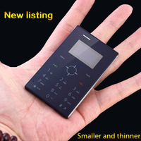 IFcane E3 Card Size Mobile Phone 1.0 Inch OLED Screen GSM Quad Band Single SIM Card FM Radio 4.5mm Slim Body 2 Colors