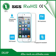 Top quality 9H 0.33/0.4 mm Tempered glass screen protector for Apple Ipod Touch 5