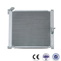 High performance plate fin hydraulic fan oil cooler