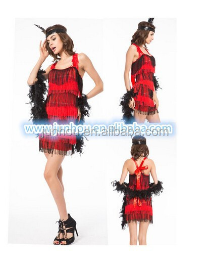 Flapper Dress Costume - Fancy Dress Charleston Fringed 20's Gatsby