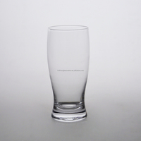 Polished High Quality Handmade Clear Glassware 425ML Beer Glass