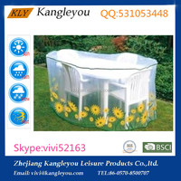 PE transparent film dining table cover outdoor furniture cover