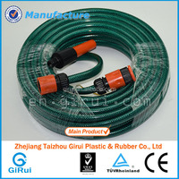 PVC reinforced garden hose with spray gun