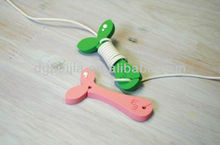 ational construction silicone earphones earphone winder for MP4 phone