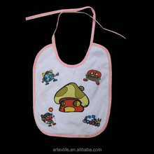 20%cotton80%polyster baby bib with Pu material